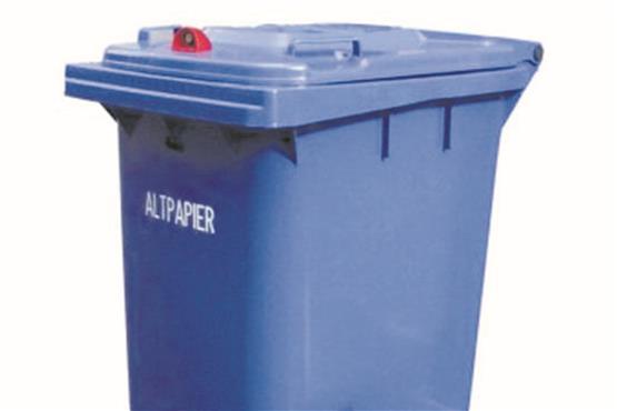 Papierkörbe & Mülleimer Kleinmöbel & Accessoires Liberal Mülleimer Blau Aus Metall