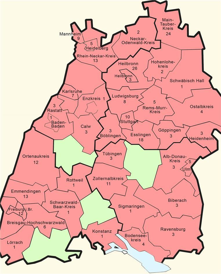 Corona Fälle In Baden-Württemberg