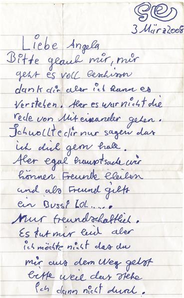brief schreiben zum kennenlernen)