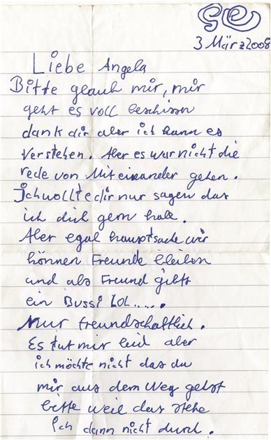 Brief zum kennenlernen schreiben